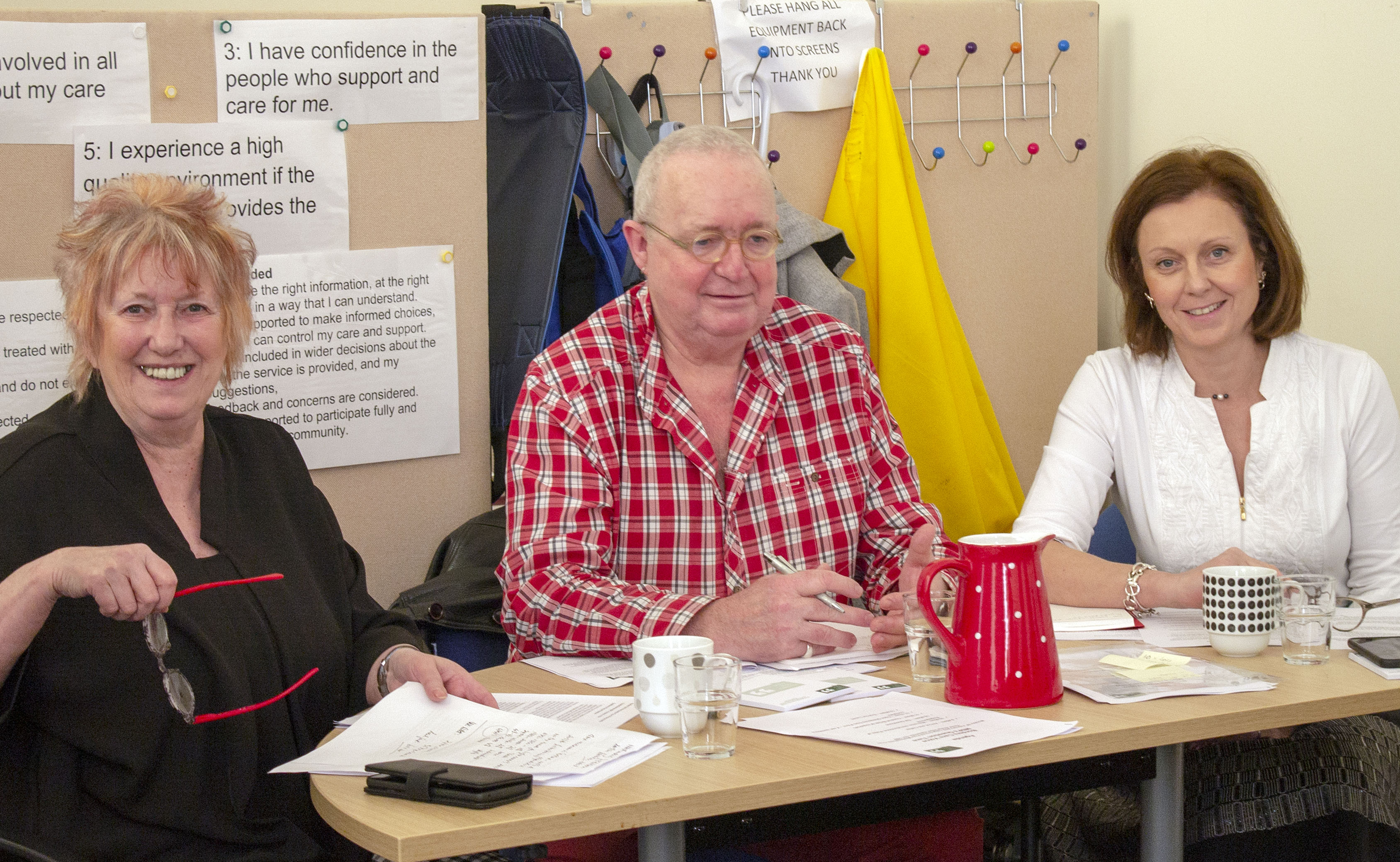 Care Voice members meet MSPs